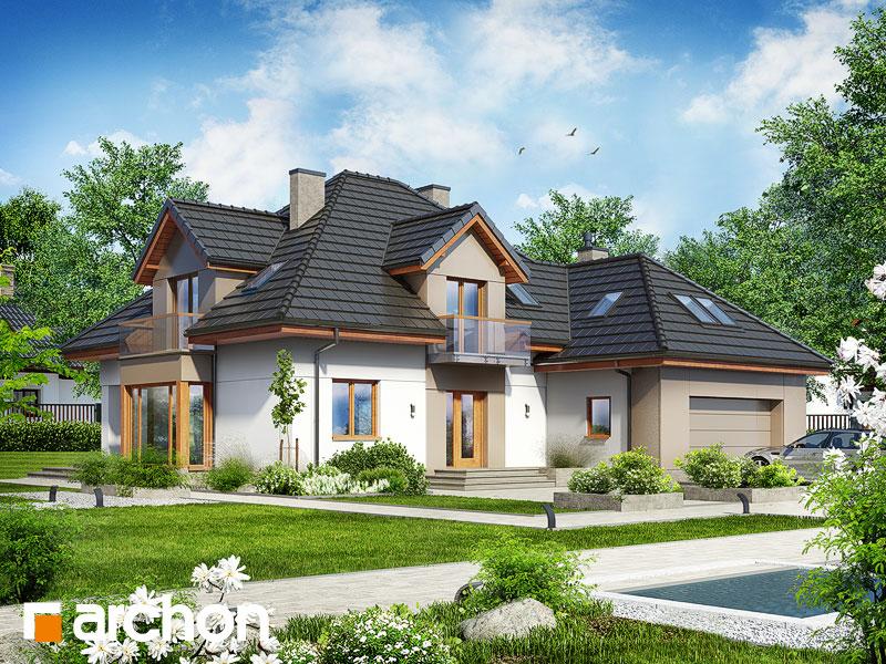 Dom w nagietkach 2 (N) - wizualizacja 1