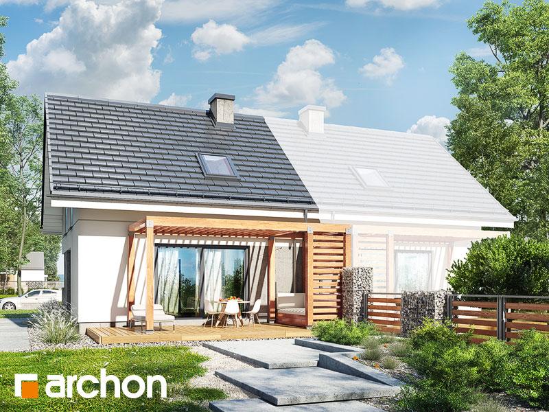 Dom w borówkach (BN) - wizualizacja 2