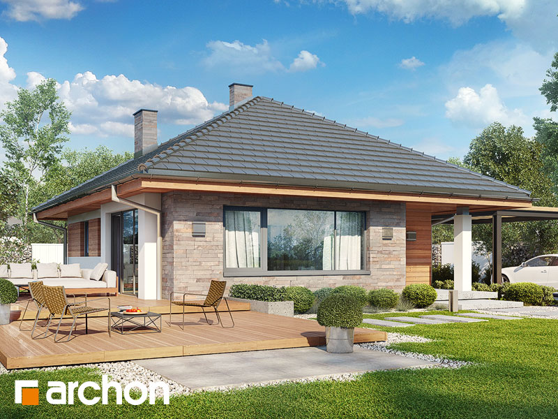 Dom w lilakach ver.2 - wizualizacja 2