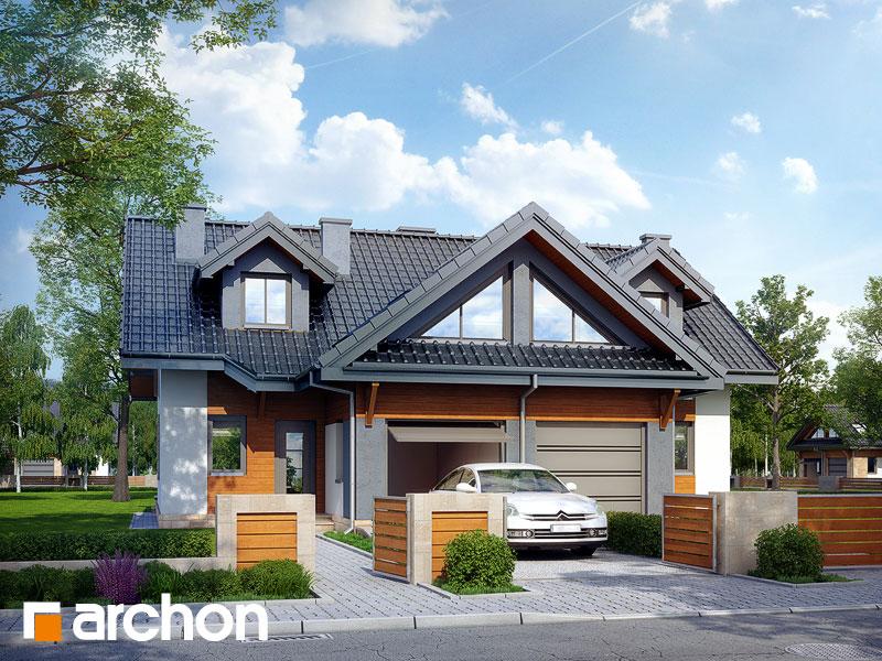 Dom w klematisach 5 - wizualizacja 1