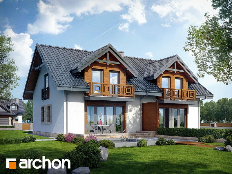 Dom w klematisach 5 - wizualizacja 2