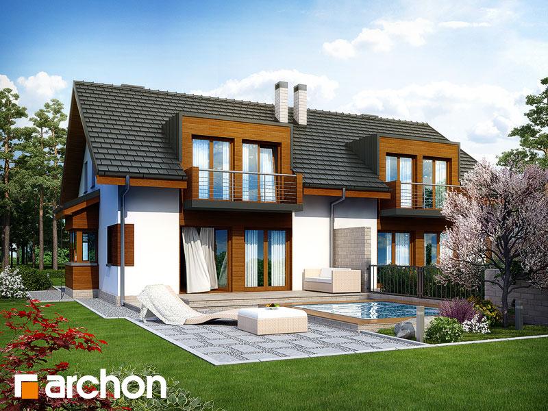 Dom w klematisach 8 - wizualizacja 2