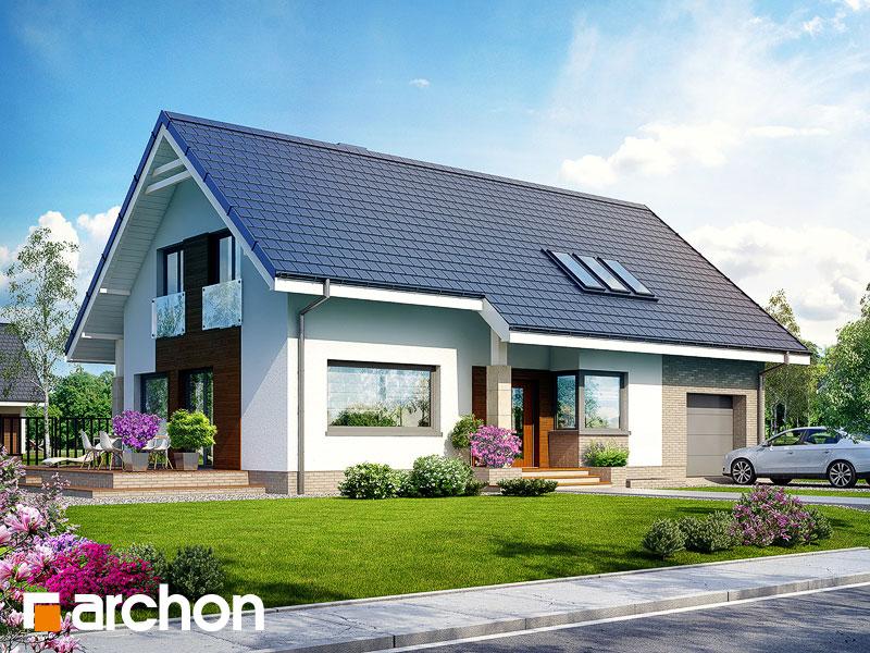 Dom w bugenwillach (P) - wizualizacja 1