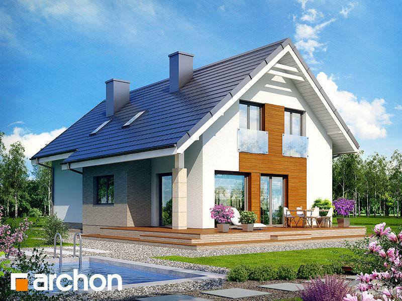 Dom w bugenwillach (P) - wizualizacja 2