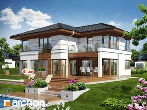 Projekty dużych domów nowoczesnych (ponad 200 m2)