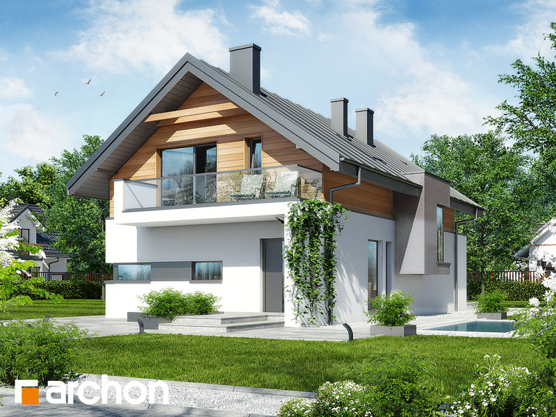 nowoczesny projekt dom w moringach. Black Bedroom Furniture Sets. Home Design Ideas