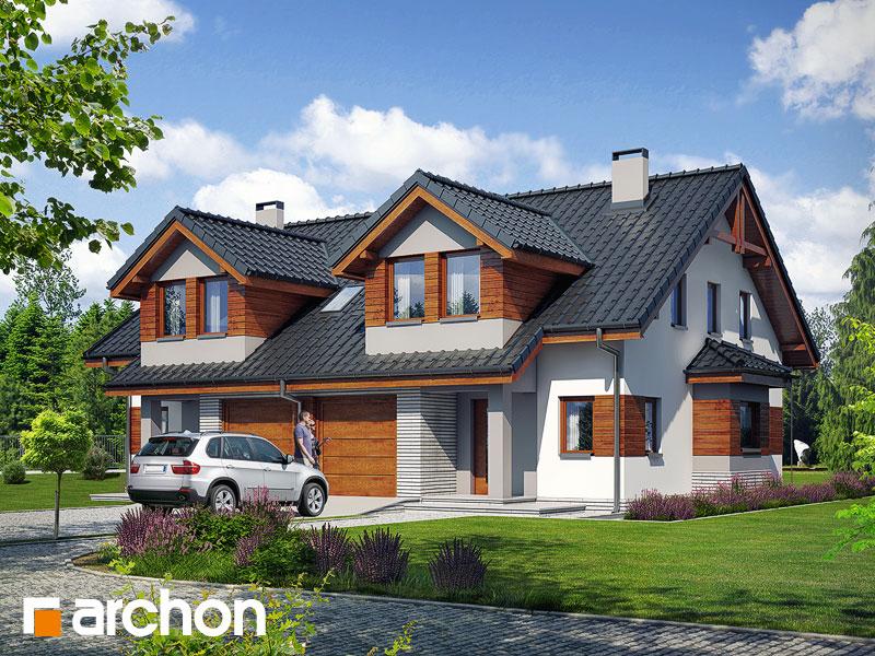 Dom w klematisach 9 - wizualizacja 1