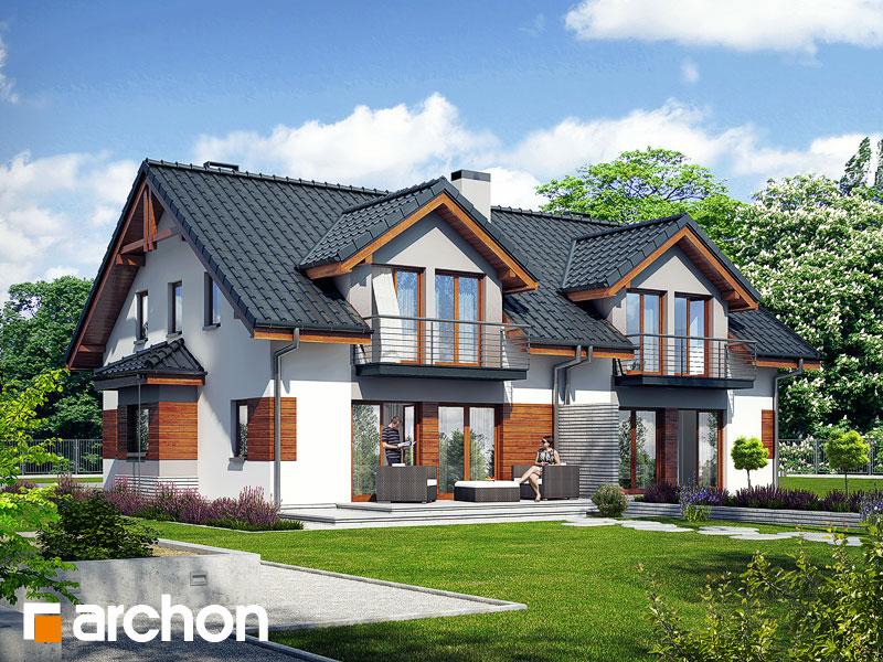 Dom w klematisach 9 - wizualizacja 2