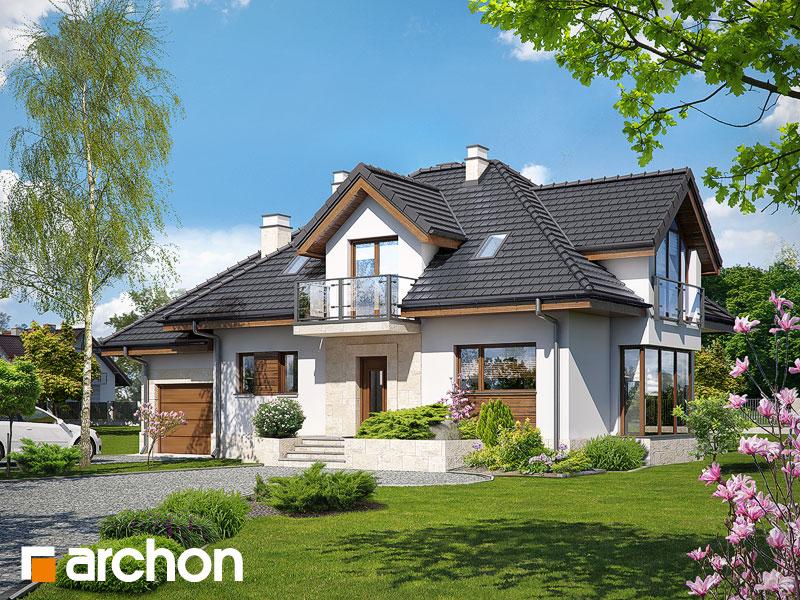 Dom w werbenach (N) - wizualizacja 1