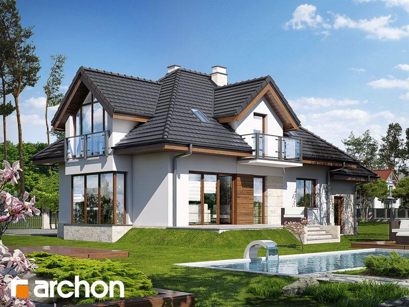 Dom w werbenach (N) - wizualizacja 2