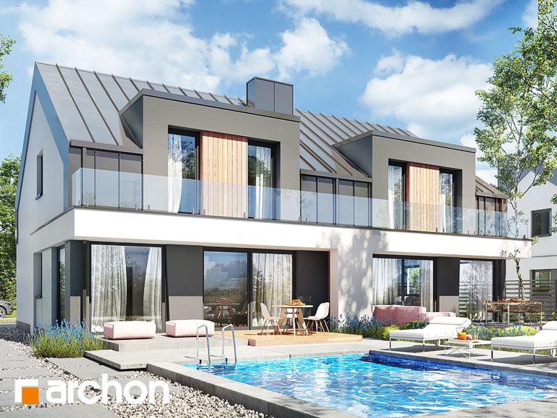 Dom w klematisach 27 (R2) - wizualizacja 1