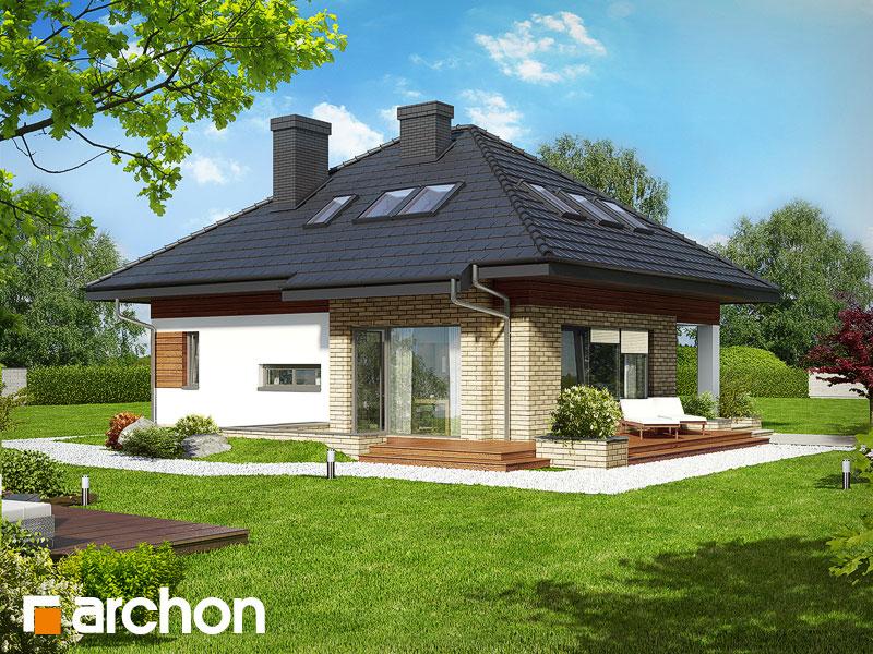 Dom w lilakach (PD) - wizualizacja 1