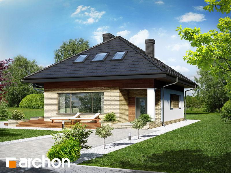 Dom w lilakach (PD) - wizualizacja 2