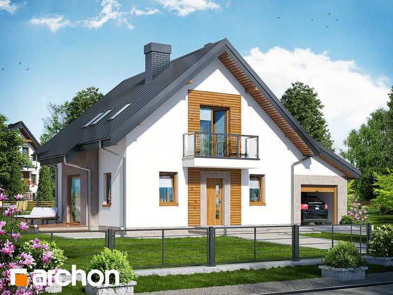 Dom w rododendronach 4 (N) - wizualizacja 1