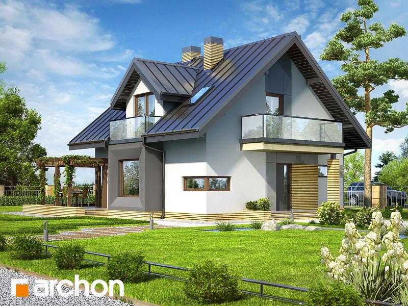 Dom w rododendronach (N) - wizualizacja 1