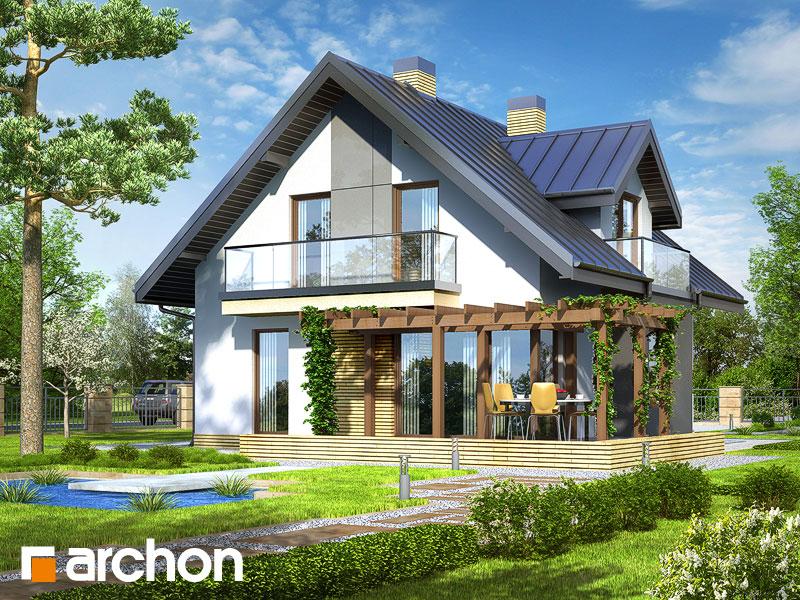 Dom w rododendronach (N) - wizualizacja 2