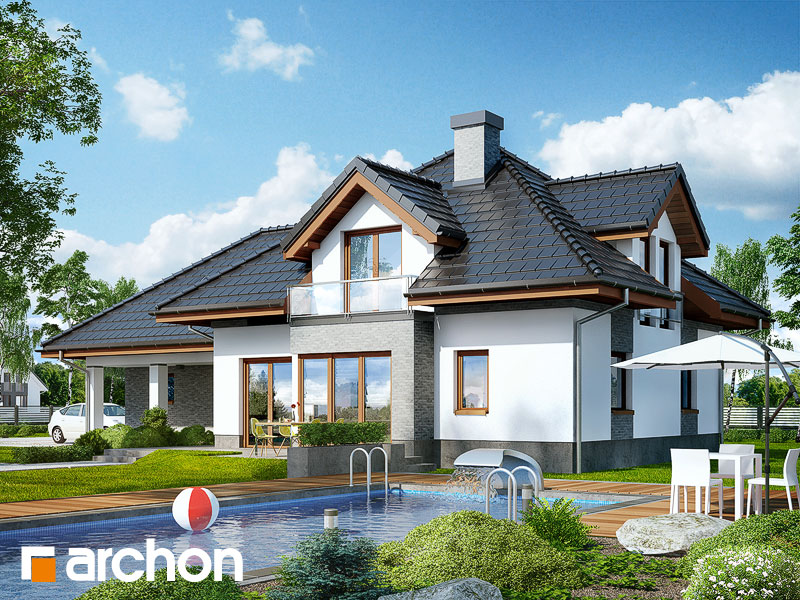 Dom w sanwitaliach - wizualizacja 2