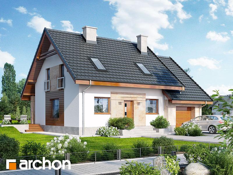 Dom w filodendronach - wizualizacja 1