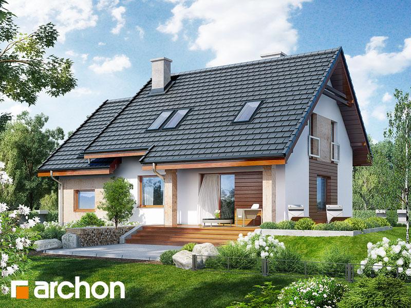 Dom w filodendronach - wizualizacja 2