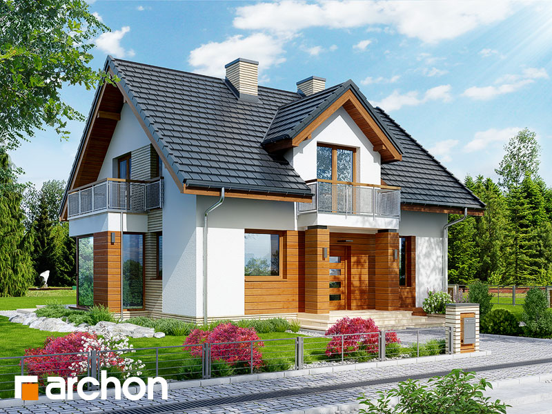 Dom w rododendronach 6 (WN) - wizualizacja 1