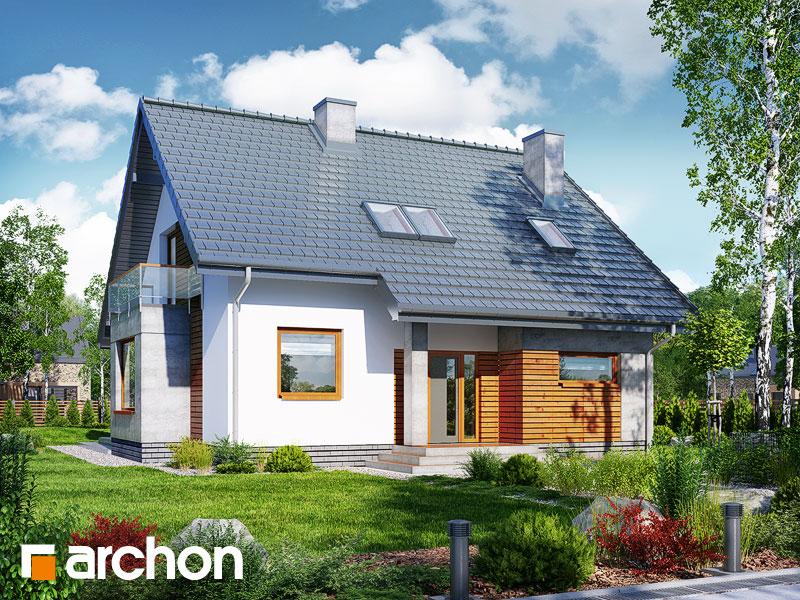 Dom w filodendronach (W) - wizualizacja 1