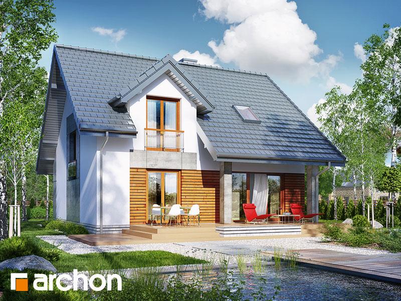 Dom w filodendronach (W) - wizualizacja 2