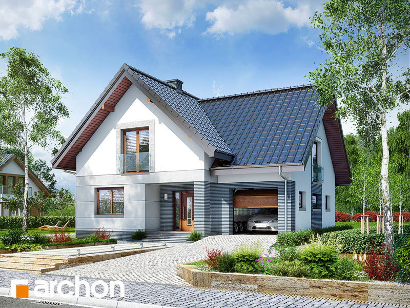 Dom w miłowonkach - wizualizacja 1