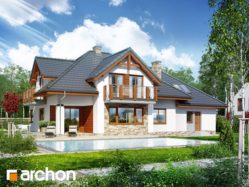 Dom w kannach - wizualizacja 2