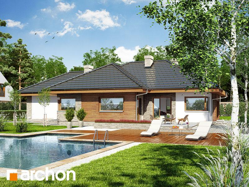 Dom w modrzykach (G2) - wizualizacja 2
