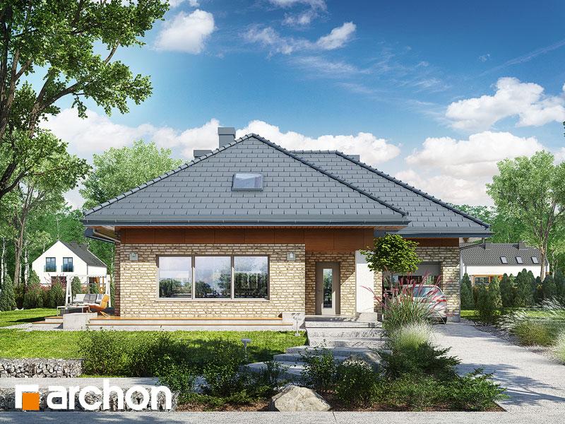 Dom w lilakach 3 (G) - wizualizacja 1