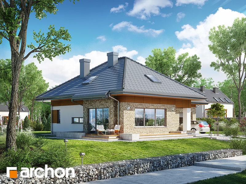 Dom w lilakach 3 (G) - wizualizacja 2