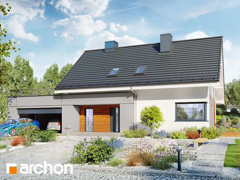 nowoczesny projekt dom w malin wkach 4 g2. Black Bedroom Furniture Sets. Home Design Ideas