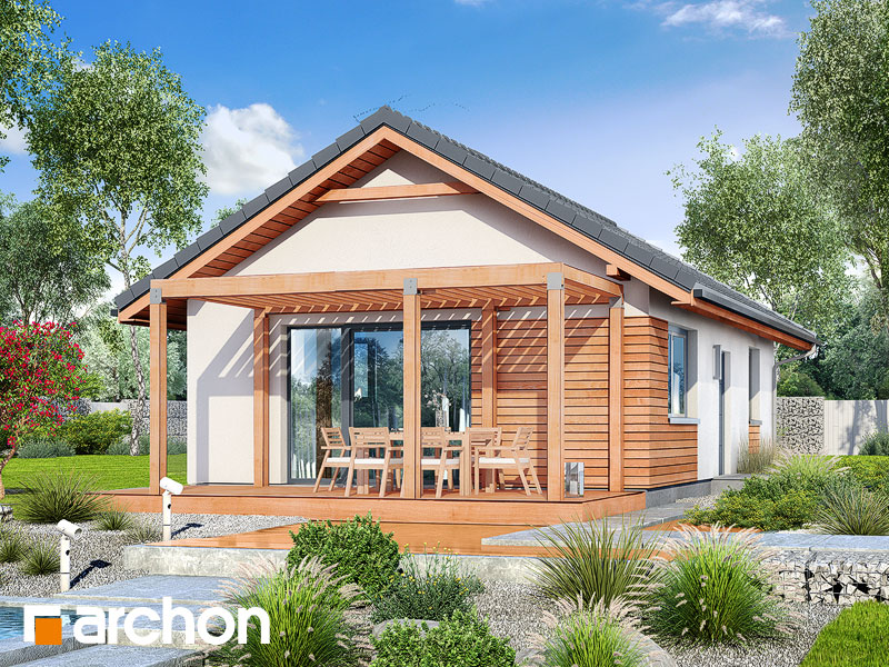 Dom w kruszczykach - wizualizacja 2