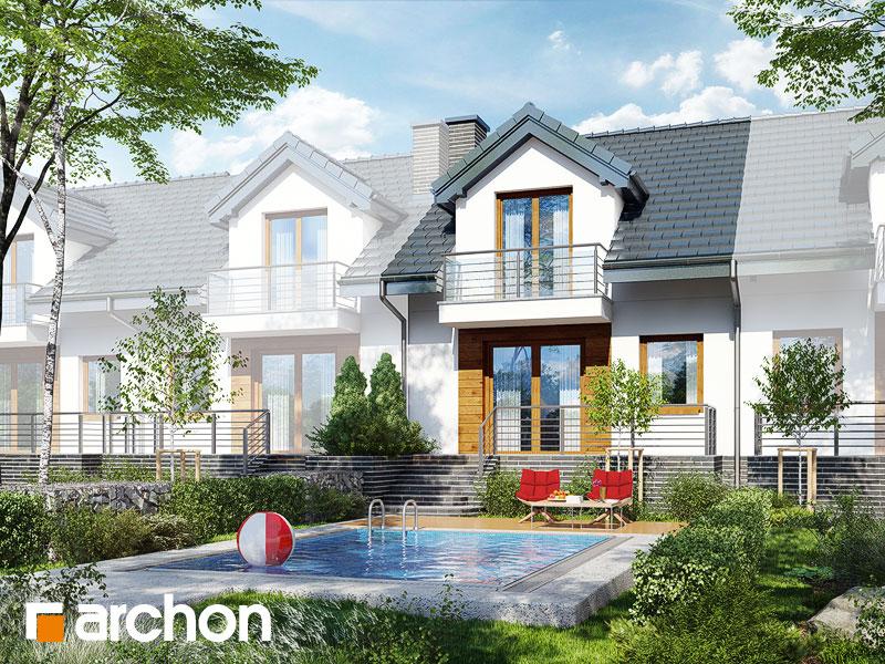 Dom w cyklamenach 4 (PS) ver.2 - wizualizacja 2