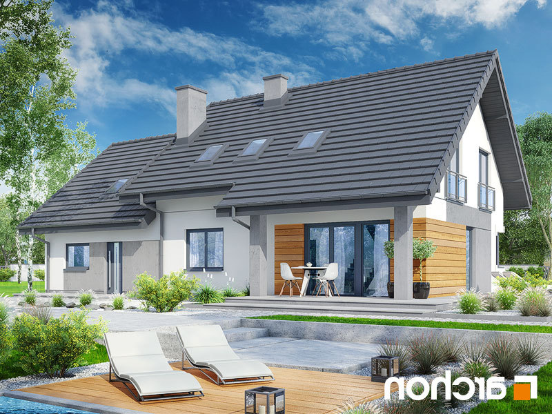 nowoczesny projekt dom w malin wkach g2a. Black Bedroom Furniture Sets. Home Design Ideas