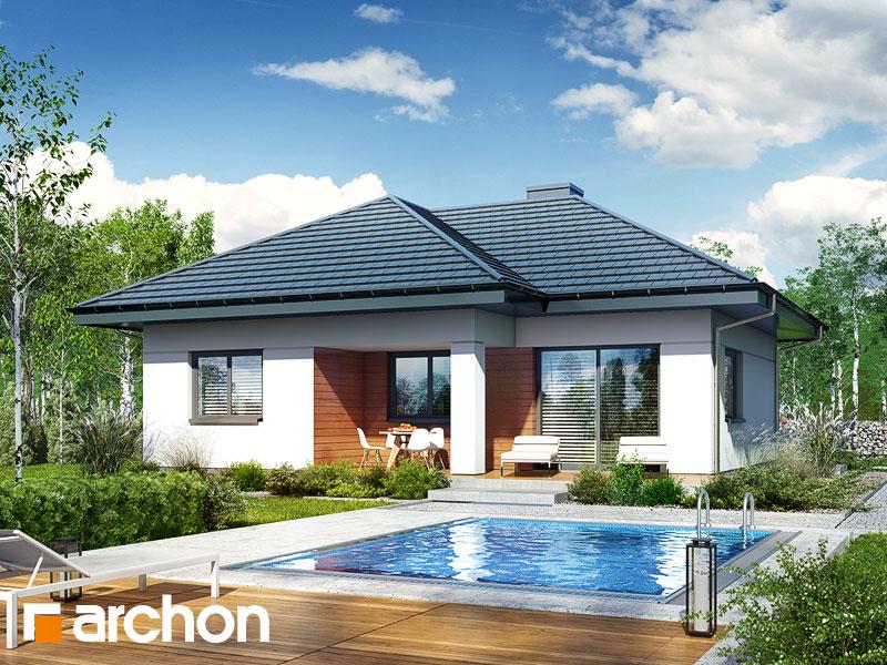 Dom w kosztelach - wizualizacja 1
