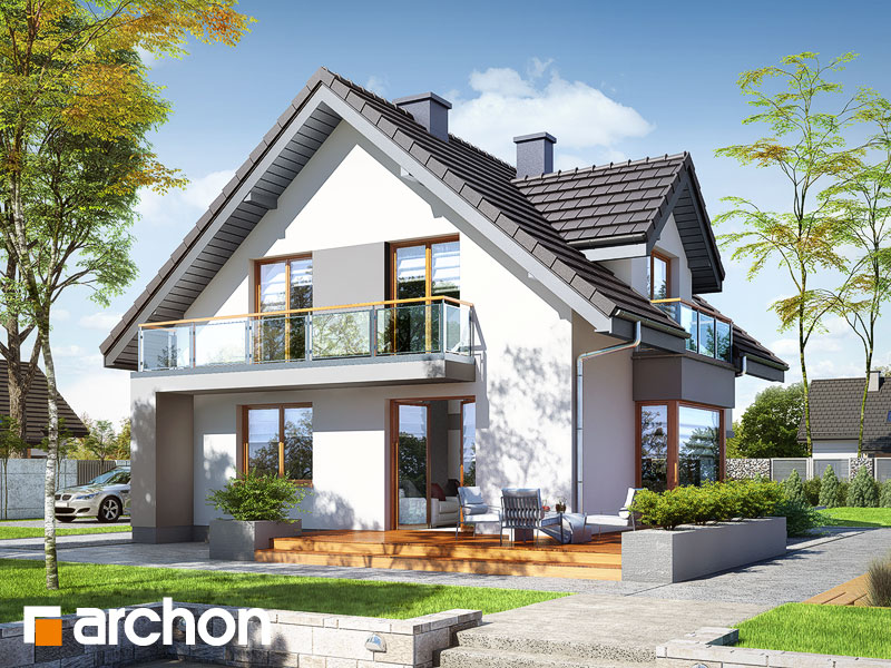 Dom w rododendronach (PN) - wizualizacja 2