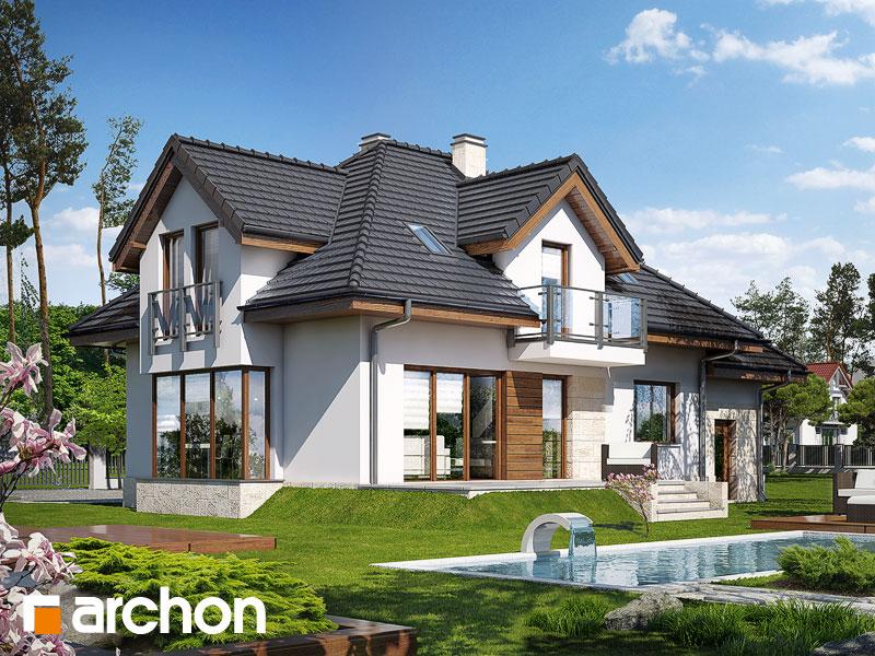 Dom w werbenach (N) ver.2 - wizualizacja 2