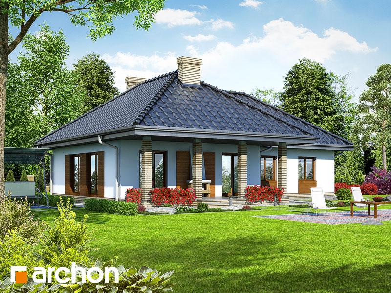 Dom w gardeniach ver.2 - wizualizacja 2