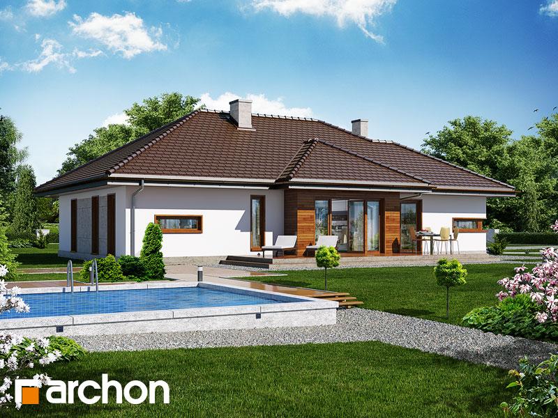 Dom w cyprysikach (G2) ver.2 - wizualizacja 2
