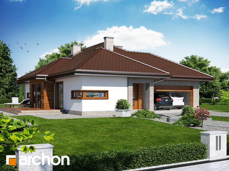Dom w cyprysikach (G2) ver.2 - wizualizacja 1