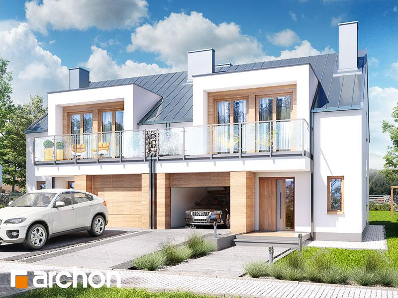 Dom w klematisach 22 (R2) ver.2 - wizualizacja 1