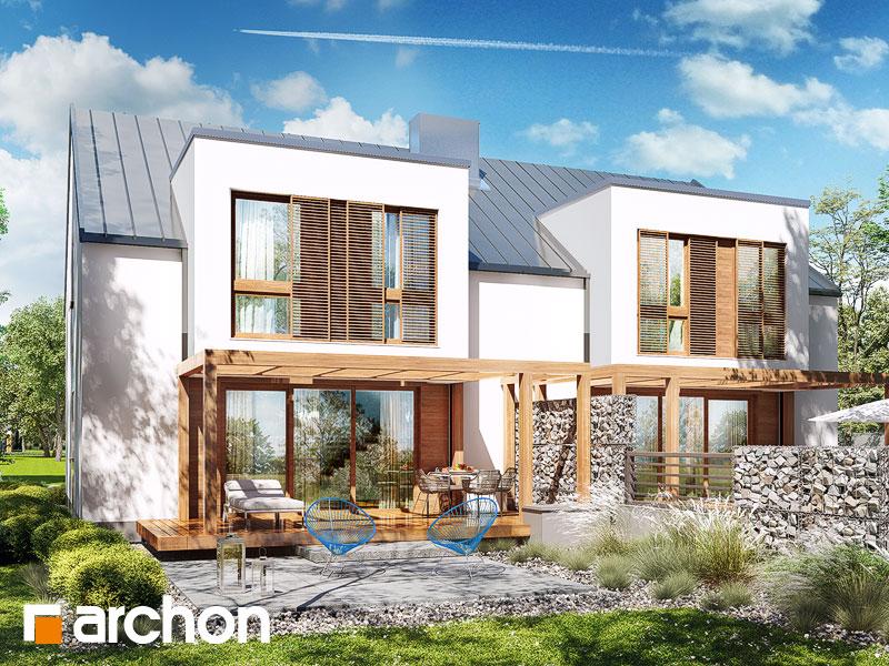 Dom w klematisach 22 (R2) ver.2 - wizualizacja 2