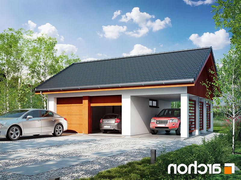 Nowoczesny Projekt Garaż 2 Stanowiskowy G22