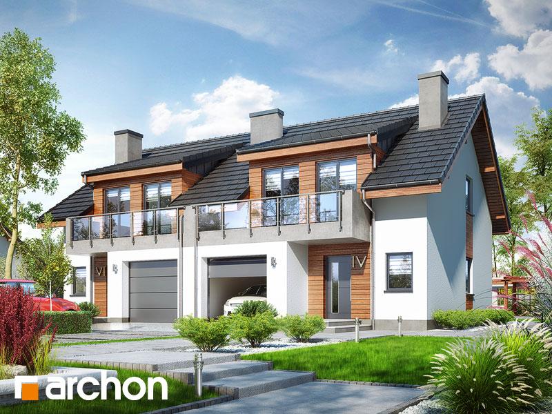 Dom w klematisach 20 (R2) ver.2 - wizualizacja 1