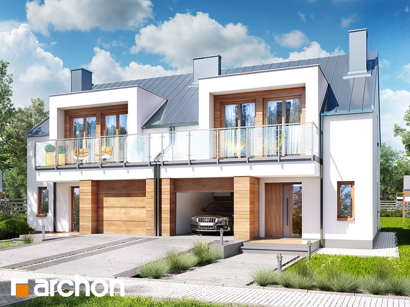 Dom w klematisach 22 (R2) - wizualizacja 1