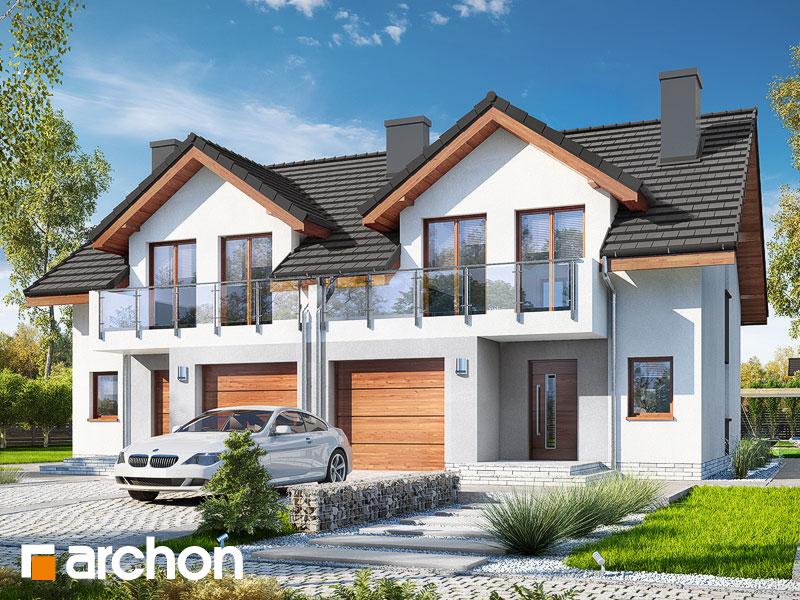 Dom w klematisach 21 (R2) - wizualizacja 1