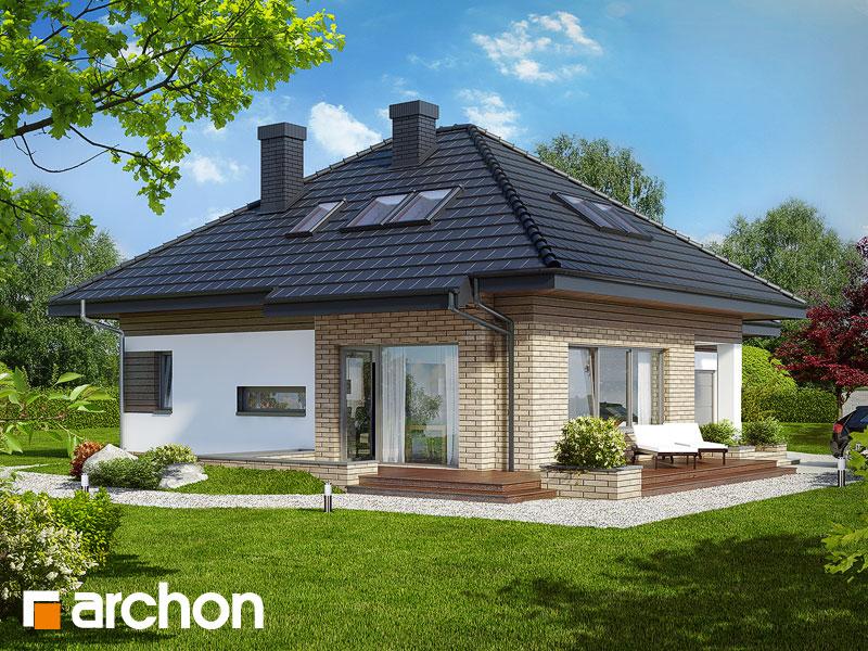 Dom w lilakach (GPD) ver.2 - wizualizacja 1