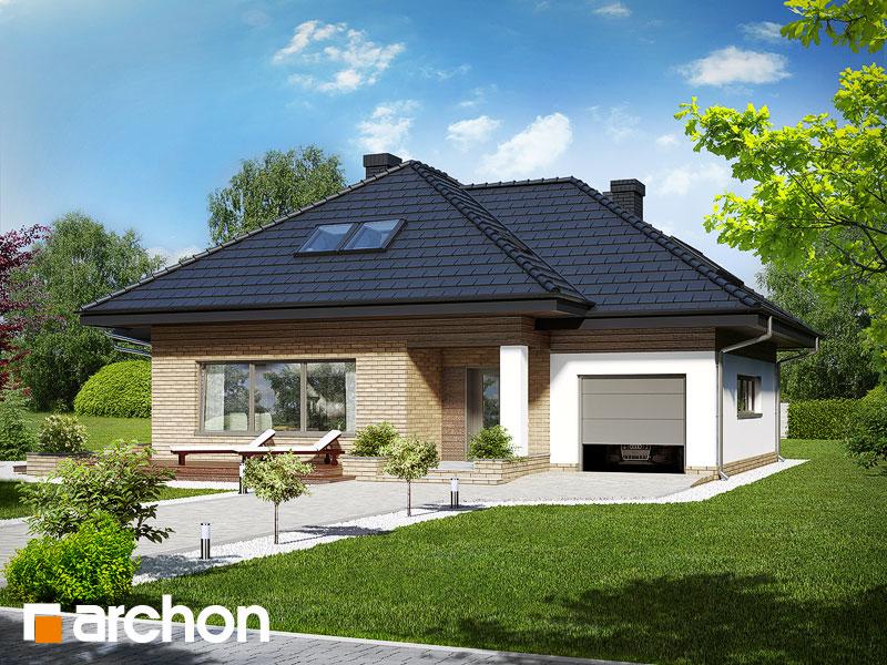 Dom w lilakach (GPD) ver.2 - wizualizacja 2